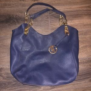 Michael Kors blue shoulder bag d45a56efda764